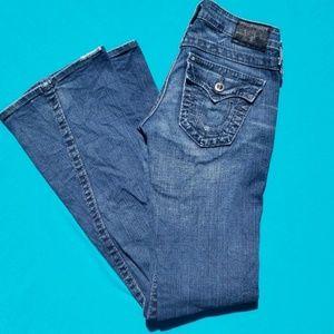 True Religion Disco Joey Flare Jeans Size 24